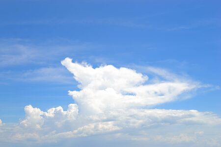 Nice form of cloud with blue sky. photo