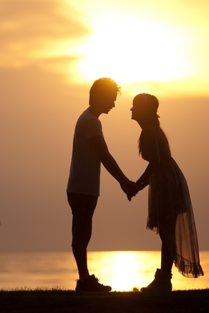 Asian couple with pre wedding sceen out door bckground. Stock Photo - 13370929