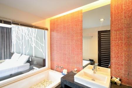 Luxury bedroom interiors design for modern life style. photo