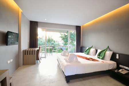 Luxury bedroom interiors design for modern life style. photo