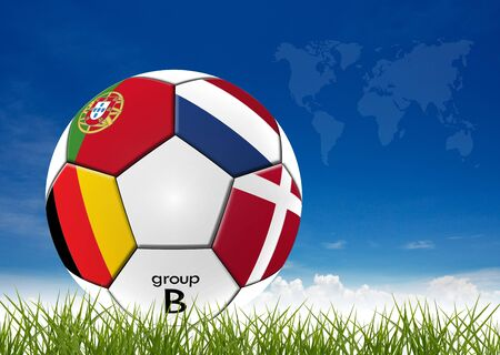 Football artwork european team on nature background. photo