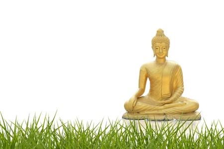 Golden Buddha with abstract background. Stock Photo - 14082432
