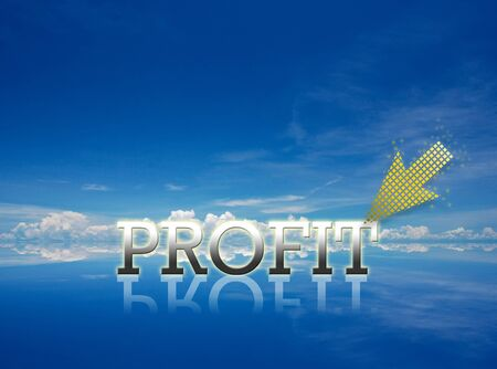 Attractive artwork of business wording on clear sky background. Stock Photo - 14082656