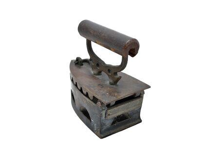 Old irons isolated on white background. Stock Photo - 14193801