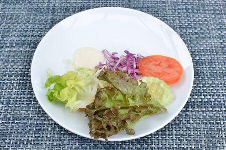 Breakfast dish on table. photo