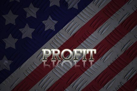 visions of america: Attractive artwork of business wording on dark united state of america background.