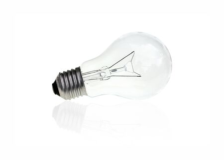 conventional: Conventional light bulb on white background.