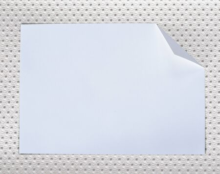 Folded empty white paper on background. Stock Photo - 15506836