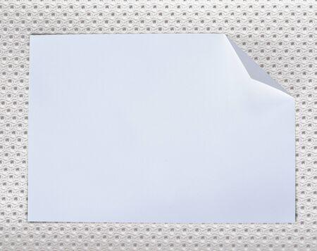 Folded empty white paper on background. Stock Photo - 15506836