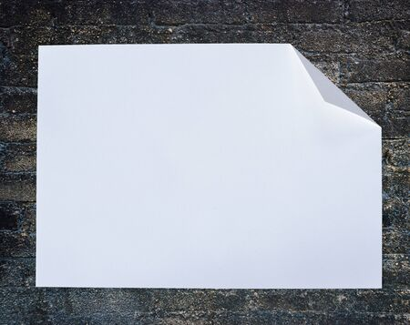 Folded empty white paper on background. Stock Photo - 15273566