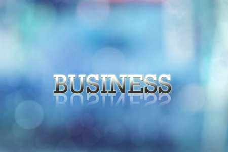 Attractive artwork of business wording on blue abstract  background. Stock Photo - 15568066