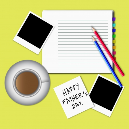 Illustration of happy fathers day idea. illustration