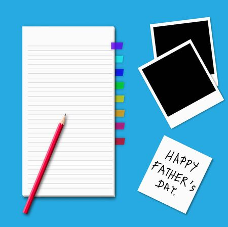 Illustration of happy father's day idea. Stock Illustration - 15567821