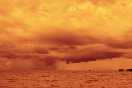 insular: Amazing sun beams over the ocean.