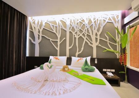 Luxury bedroom interior design for modern life style. Standard-Bild