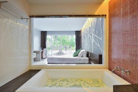 Luxury bathroom inter design for modern life style. Stock Photo - 15719723