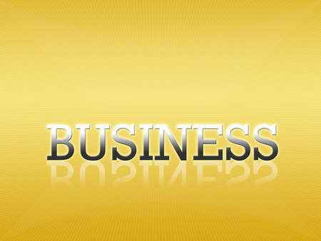 Attractive artwork of business wording on golden gradient background. photo