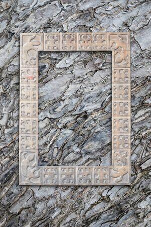 Wood photo frame on closeup texture of wood skin. Stock Photo - 15791059