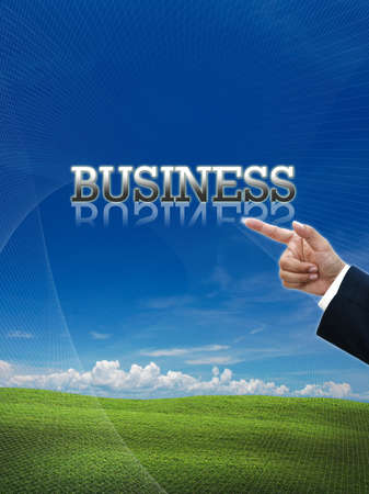 Attractive artwork of business wording on nature background. Stock Photo - 15879331