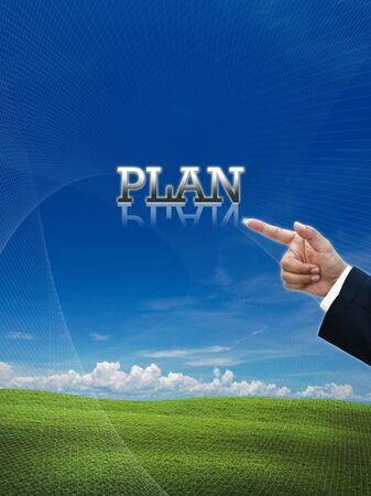 Attractive artwork of business wording on nature background. photo