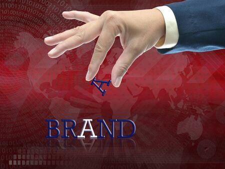 Artwork of business wording on abstract modern background. Stock Photo - 16153323