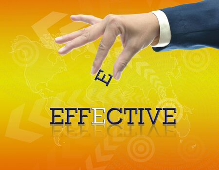 art work of business hand with the word. Stock Photo - 16290096