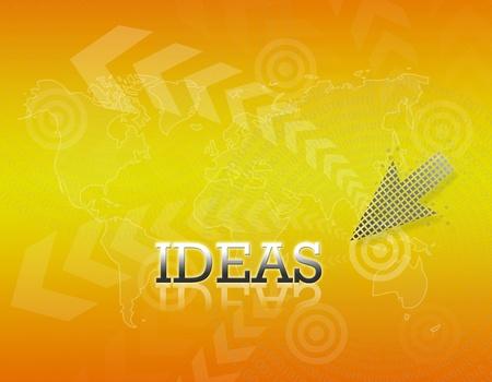 Attractive artwork of business wording on golden gradient background. Stock Photo - 16289296
