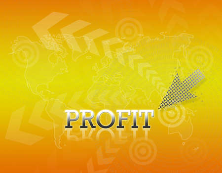 Attractive artwork of business wording on golden gradient background. Stock Photo - 16289297