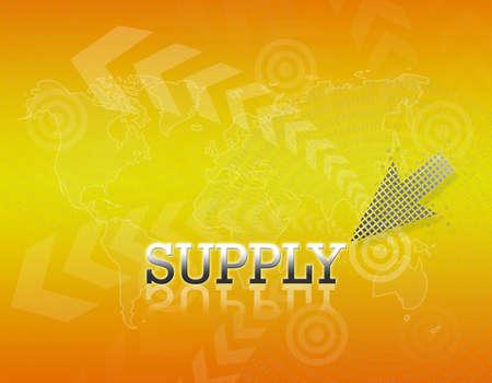 Attractive artwork of business wording on golden gradient background. Stock Photo - 16289307