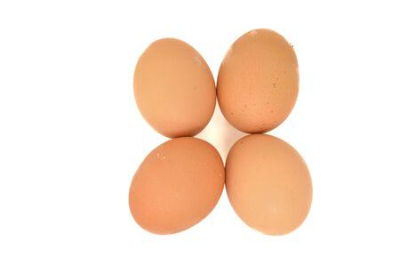 Isolated raw egg on white background. Stock Photo - 16398028