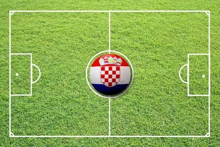 euro area: Illustration of soccer in the center of field.