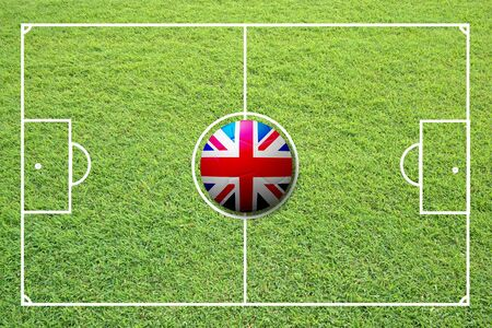 Illustration of soccer in the center of field. Stock Illustration - 16556210