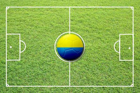 Illustration of soccer in the center of field. Stock Illustration - 16556298