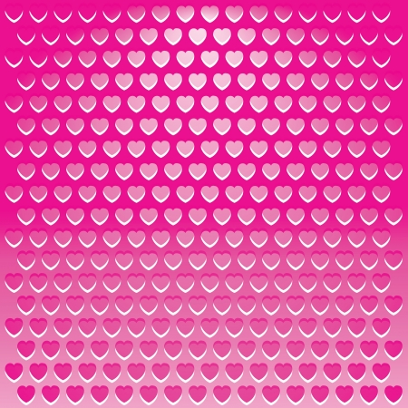 Illustration pink heart shape Metal Grille background. illustration