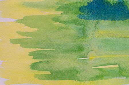 Art with water color stroke on white paper. Stock Photo - 16988660