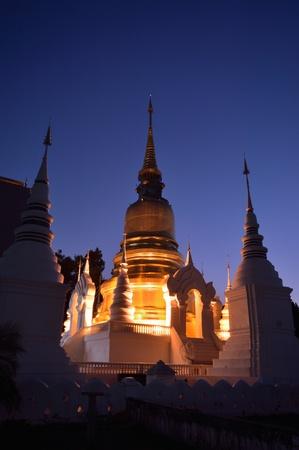 Beautiful thai north temple , Chiang Mai, Thailand Stock Photo - 17034926