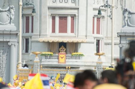 BANGKOK, THAILAND - DECEMBER 5: Almost one million of Thai poeple on Ratchadamnoen road  at H.M. the Thai King's Birthday Celebration   on Dec 5, 2012 at bangkok, Thailand. Stock Photo - 17003272