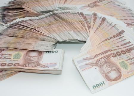 Stack of thai banknotes, one thousand bath type. Stock Photo - 18586592