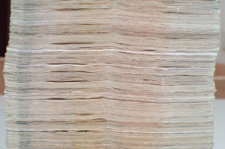 Stack of thai banknotes, one thousand bath type. Stock Photo - 18586965