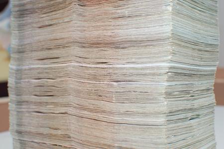 Stack of thai banknotes, one thousand bath type. Stock Photo