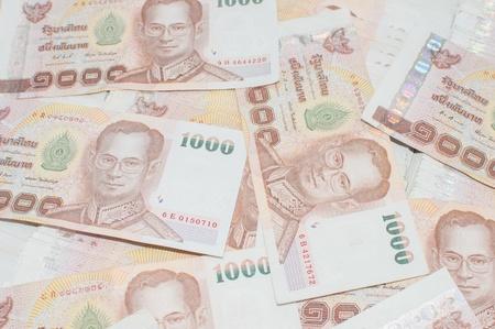 Stack of thai banknotes, one thousand bath type. Stock Photo - 18605366