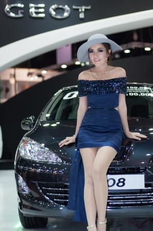 BANGKOK, THAILAND- MARCH 31: A peugeot 408 on display at The 34th Bangkok International Motorshow 2013 at Impact on March 31, 2013 in Bangkok,Thailand