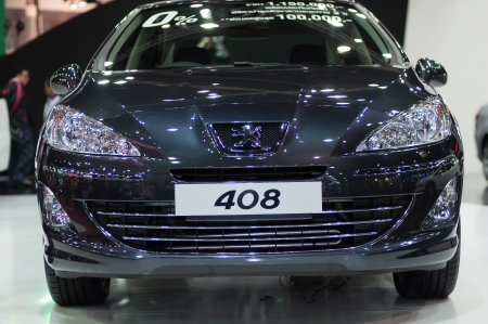motorshow: BANGKOK, THAILAND- MARCH 31: A peugeot 408 on display at The 34th Bangkok International Motorshow 2013 at Impact on March 31, 2013 in Bangkok,Thailand