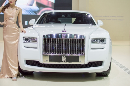 motorshow: BANGKOK, THAILAND- MARCH 31: A rolls royce 2013 on display at The 34th Bangkok International Motorshow 2013 at Impact on March 31, 2013 in Bangkok,Thailand
