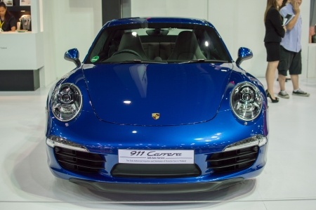 BANGKOK, THAILAND- MARCH 31: A porche 911 carrera on display at The 34th Bangkok International Motorshow 2013 at Impact on March 31, 2013 in Bangkok,Thailand