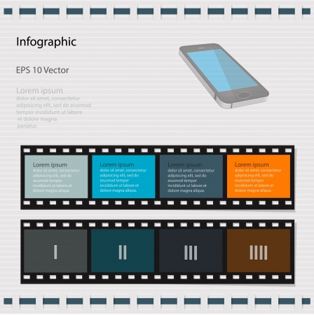 info graphic retro style slide photo. Vector