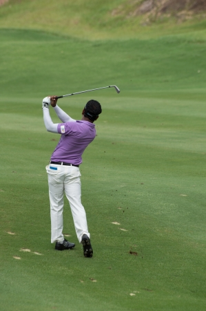 KO SAMUI, THAILAND-JUNE 16: Siddikur Muhammad in action during QUEENs CUP 2013 on June 16, 2013 at Santiburi golf course in ko samui surat thani, Thailand.