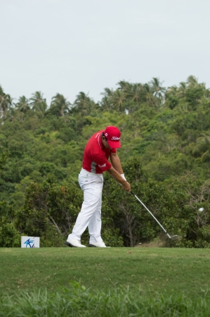 KO SAMUI, THAILAND-JUNE 16: Arnond Wongwanich in action during QUEENs CUP 2013 on June 16, 2013 at Santiburi golf course in ko samui surat thani, Thailand.
