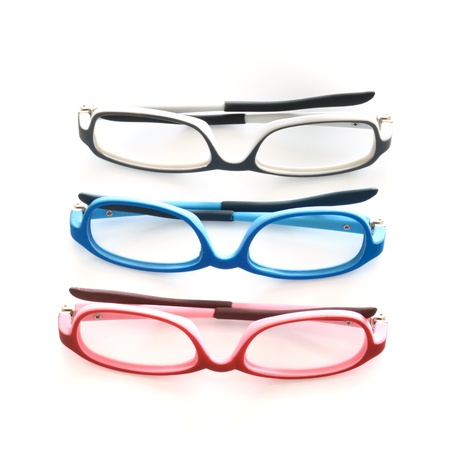 hyperopia: Eye glasses isolated on white background.