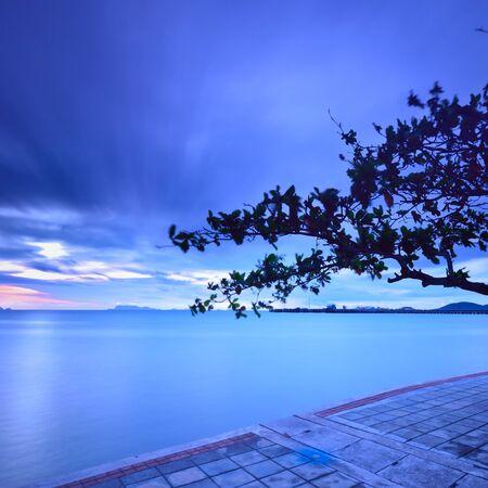 koś: Seascape,nathon  ko samui thailand, long exposure technique.